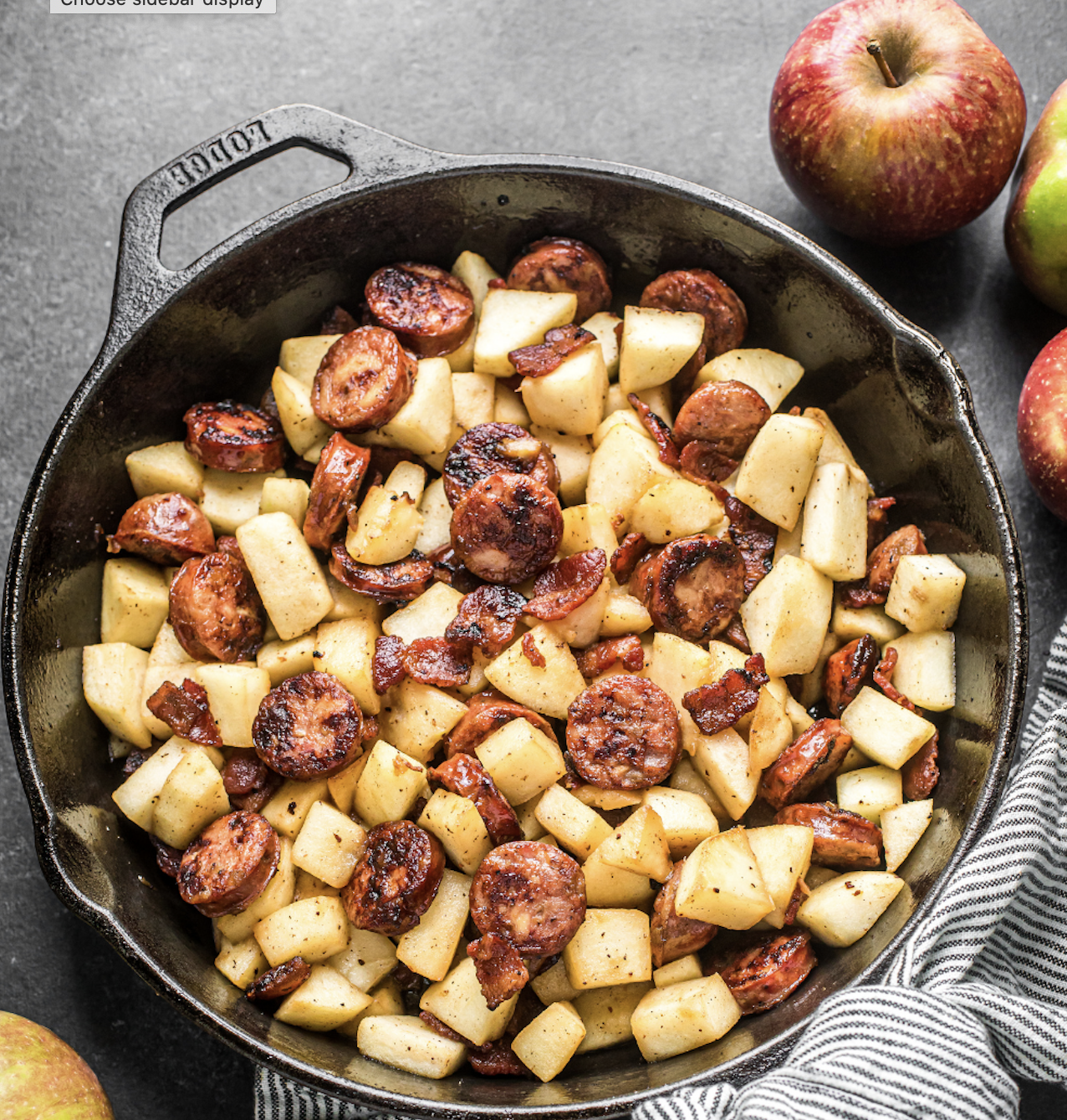 Sausage, Bacon and Apple Breakfast Skillet