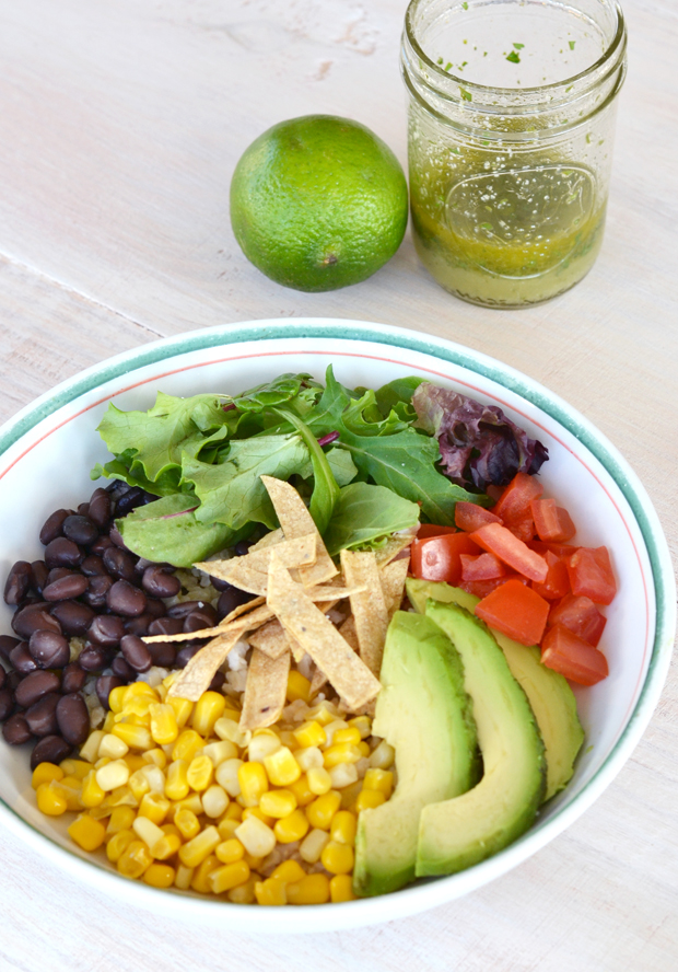 Fiesta Bowl with Cilantro Lime Dressing