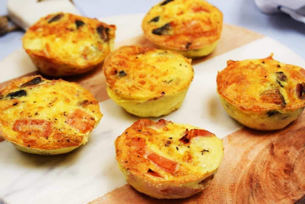 Make Ahead Bacon, Cheese & Veg Breakfast Muffins